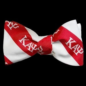 Kappa Red & White Bow Tie