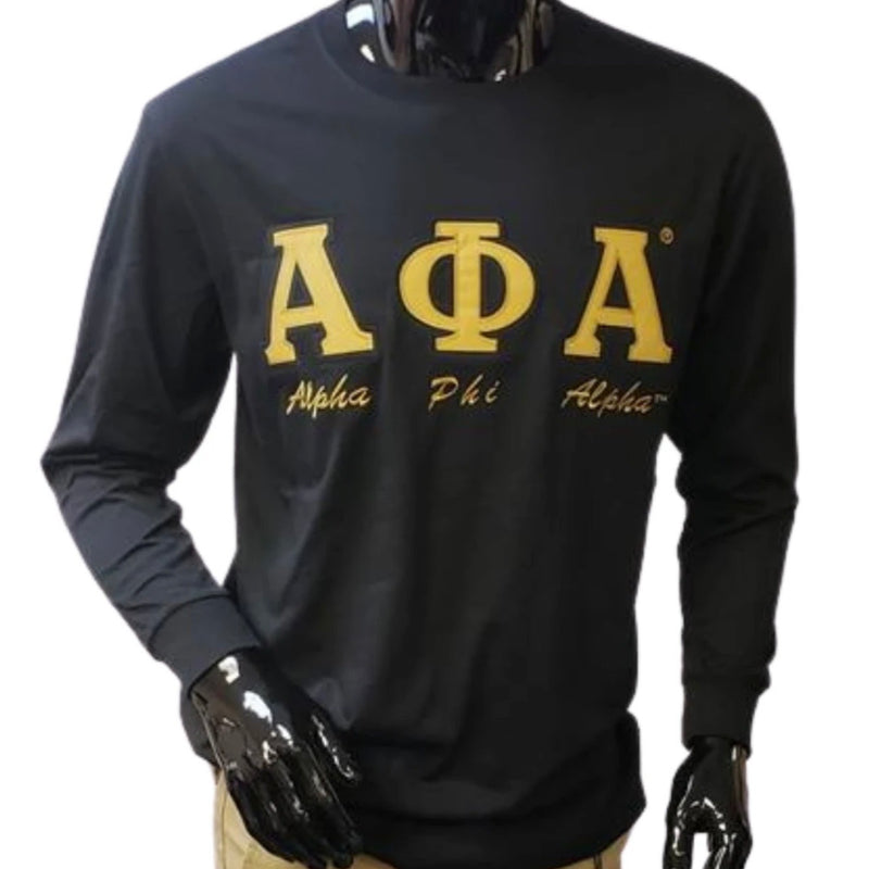 Alpha Embroidered Letters with script T-shirt BD Long Sleeves