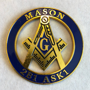 Round Cut Out Car Emblem - MASON