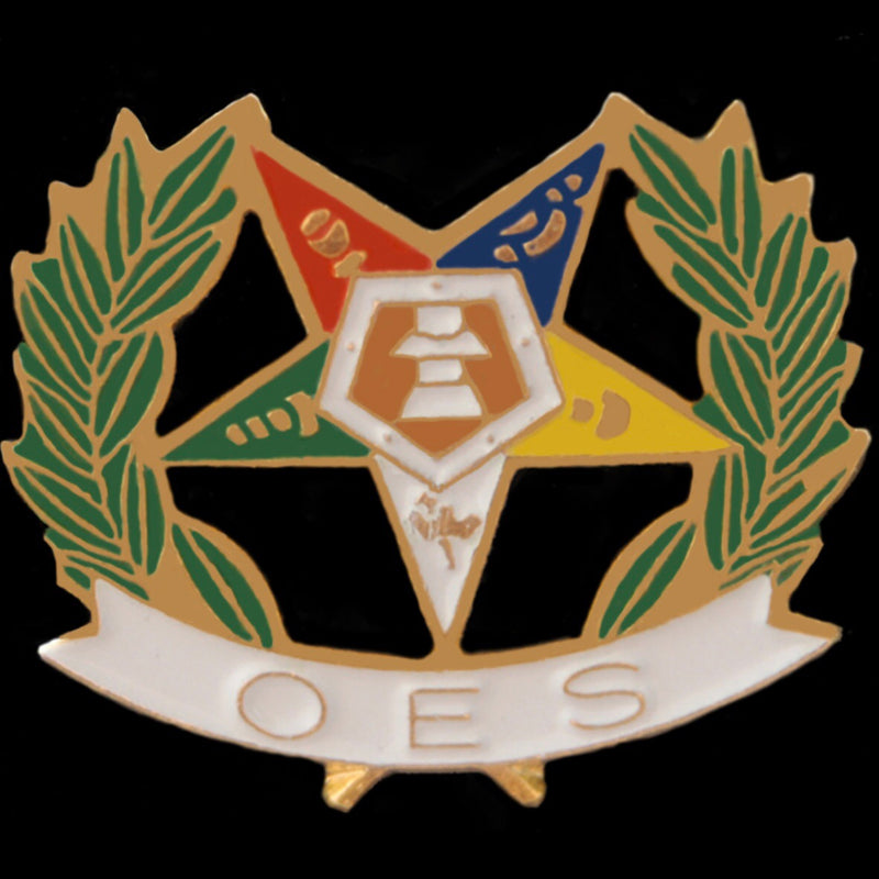 OES Wreath Lapel Pin