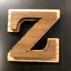 Wood Double Letters 3 inches