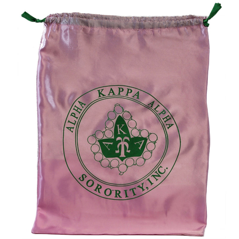AKA Drawstring Satin Shoe Bag