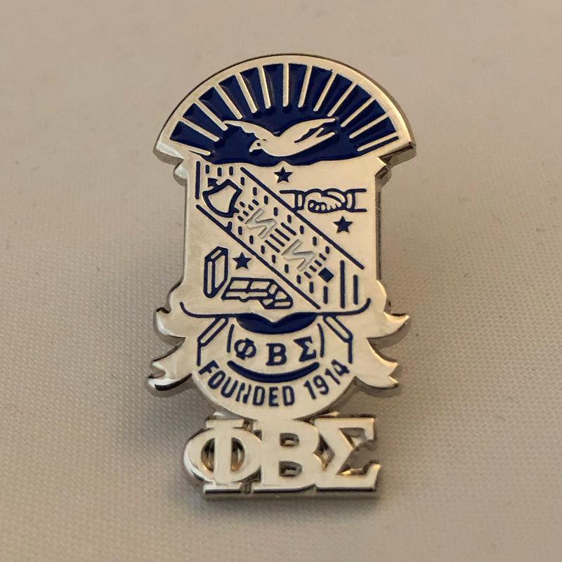 Sigma Shield with Greek Letters Lapel Pin