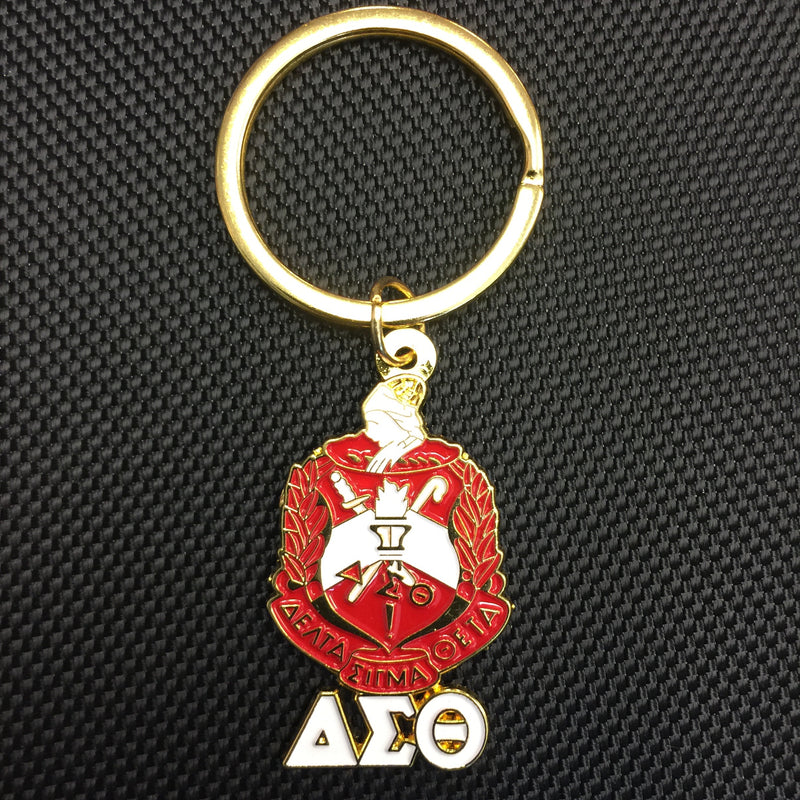 Delta Shield with Letters Key Chain