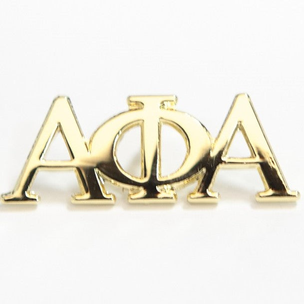 Alpha 3 Letter Gold Lapel Pin
