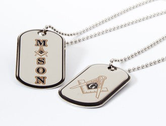 Reversible Dog Tag Necklace - MASON
