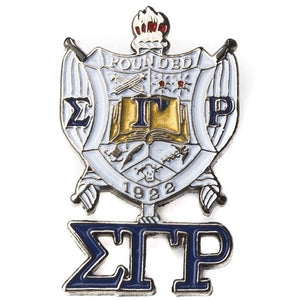 Shield with Greek Letters Lapel Pin - SGRho