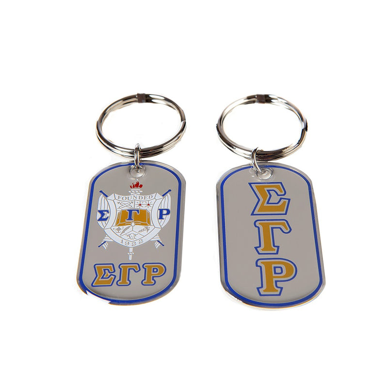 SGRho Reversible Dog Tag Key Chain