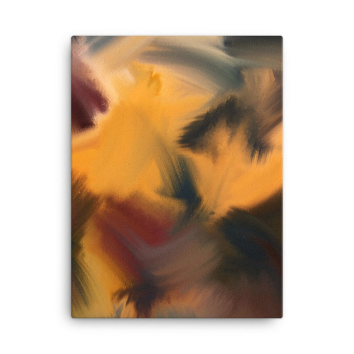Samurai Block Art Print - Stretched Canvas / No Frame / 18×24