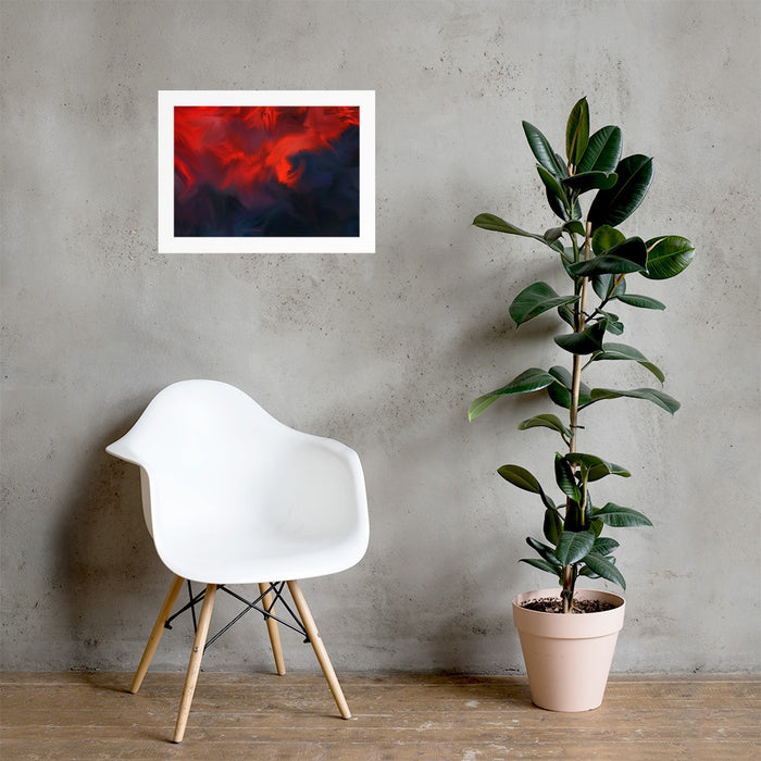 Lava Lava Art Print - Enhanced Matte Print - White Border / No Frame / 24×18