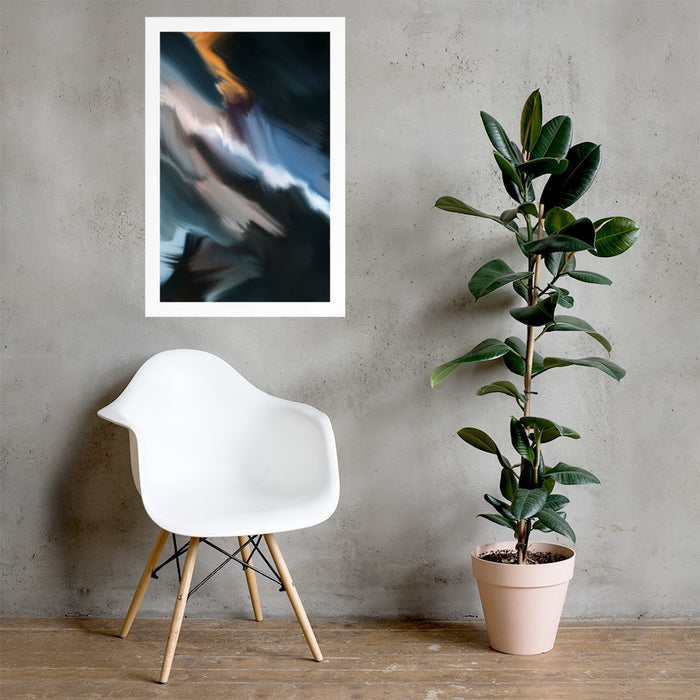 Sharp Corridor Art Print - Enhanced Matte Print - White Border / No Frame / 24×36