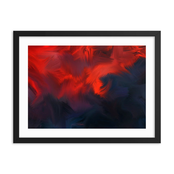 Lava Lava Art Print - Enhanced Matte Print - White Border / Frame / 24×18