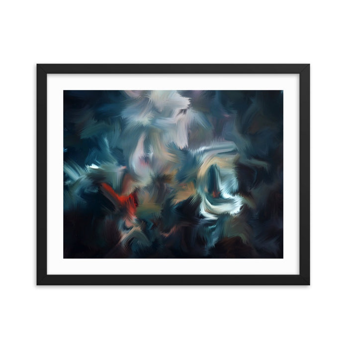 Graffiti Night Art Print - Enhanced Matte Print - White Border / Frame / 20×16