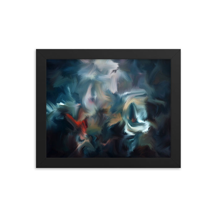 Graffiti Night Art Print - Enhanced Matte Print / Frame / 10×8