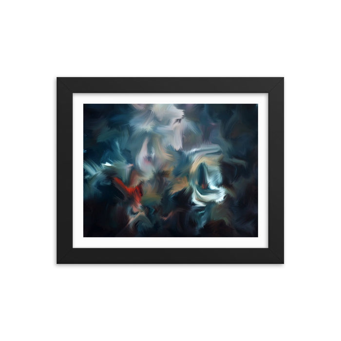 Graffiti Night Art Print - Enhanced Matte Print - White Border / Frame / 10×8