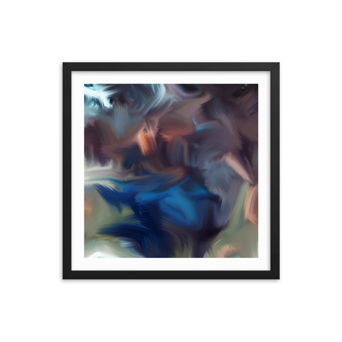 Cyclone Moment Art Print - Enhanced Matte Print - White Border / Frame / 18×18