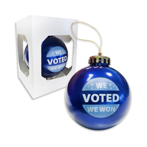 We Voted We Won Ornament