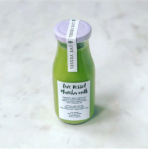 Live Vessel Matcha Milk 10 oz Pack of 3