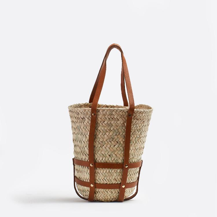 Basket medium Tan