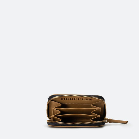 Cartera Continental mediana curry detalle