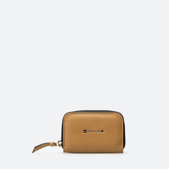 Cartera Continental pequeña curry frontal