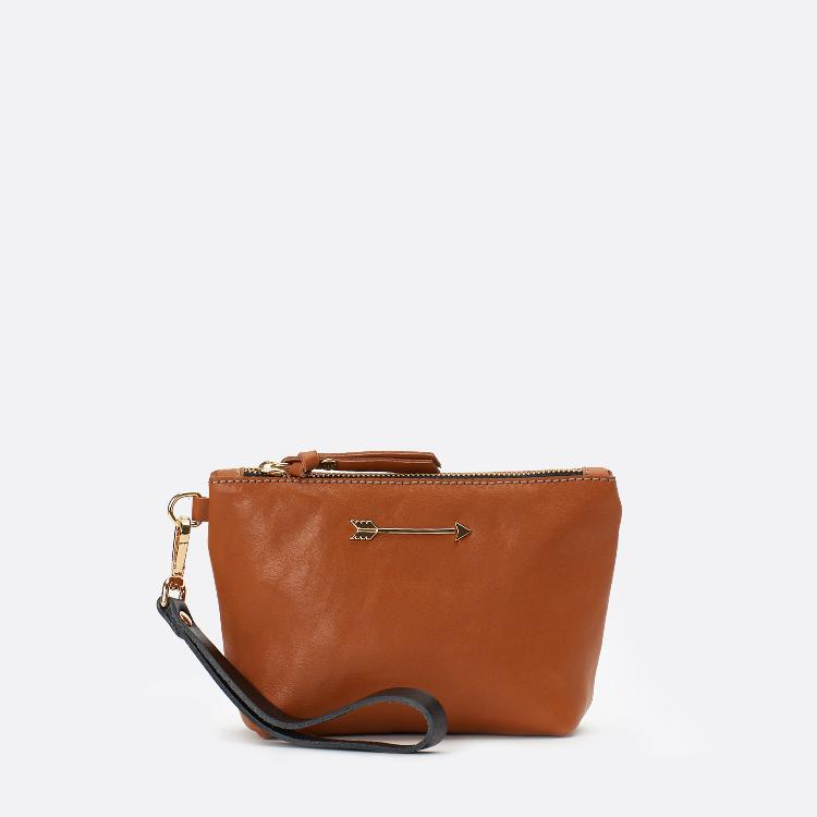 Mini bag arrow Tan