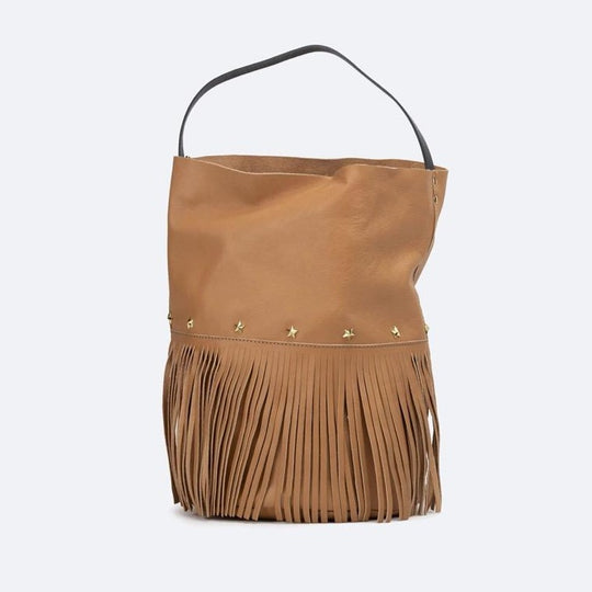 Racer Bucket Fringes Camel
