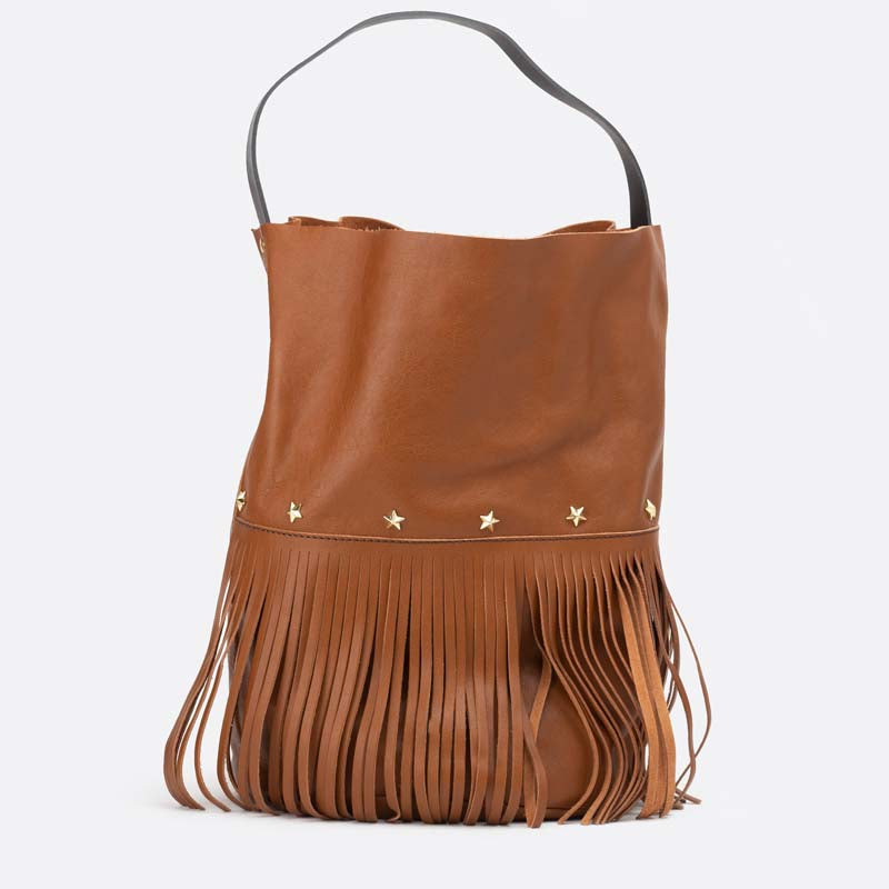 Racer bucket fringes Tan