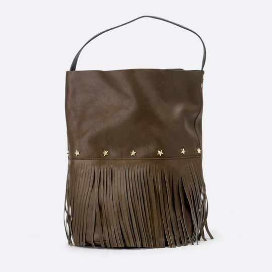 Racer Bucket Fringes Olive