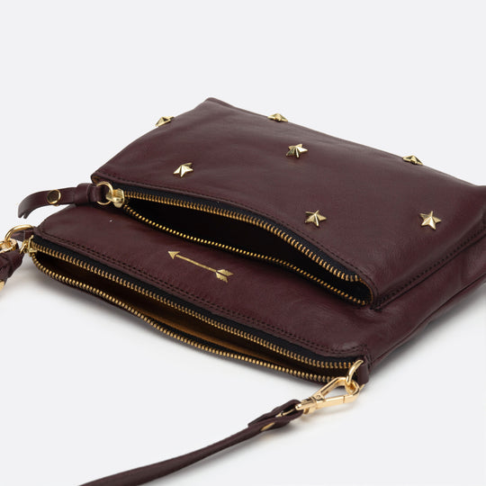Bugsy Medium Stars Burgundy