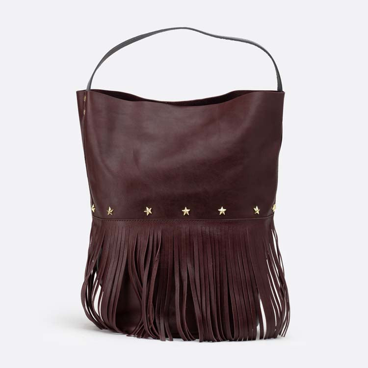 Racer Bucket Fringes Burgundy