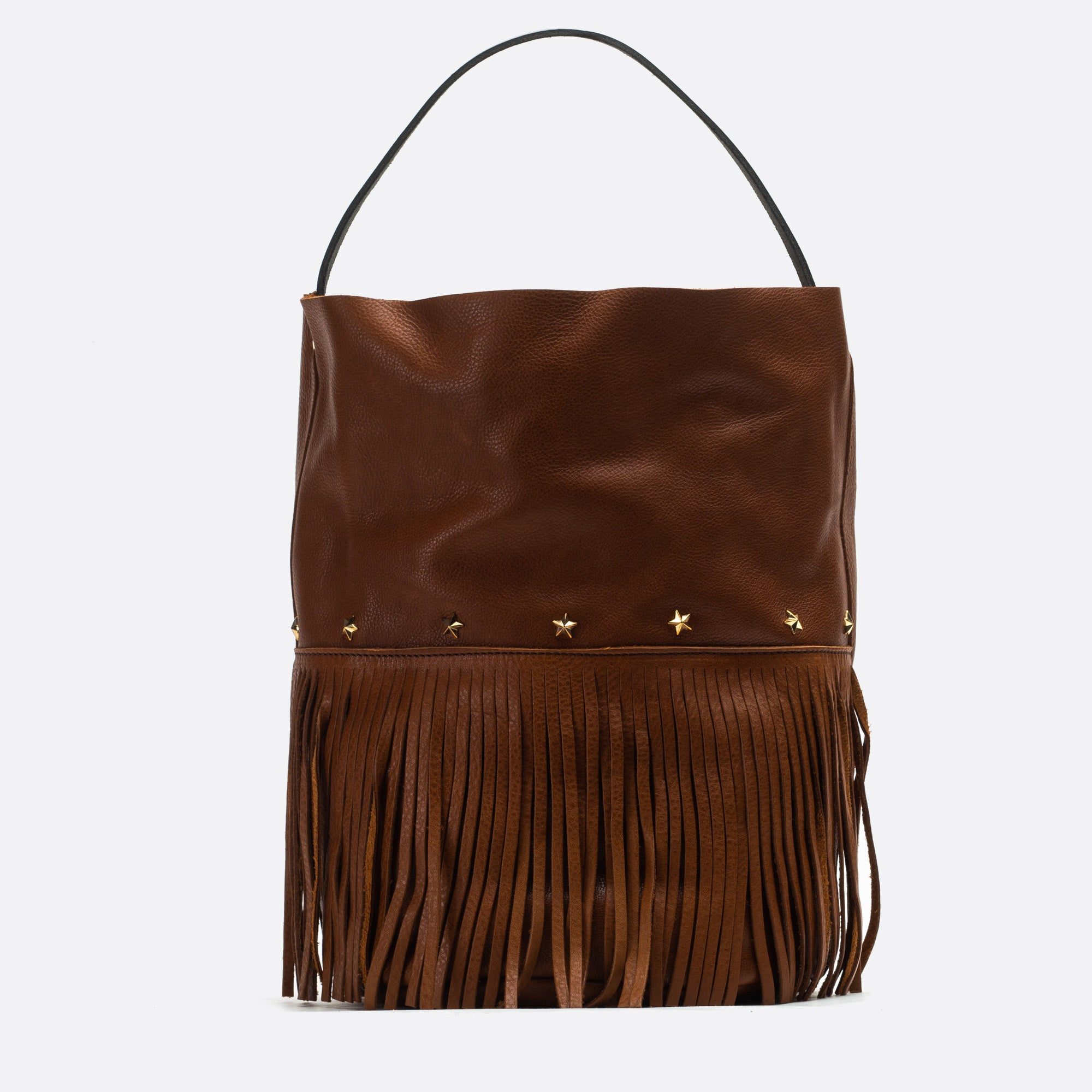 Racer bucket fringes Marron