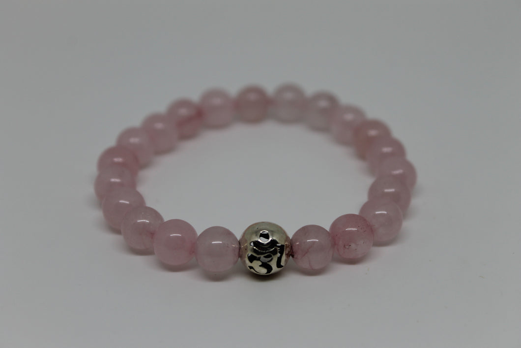 Quartz rose - bracelet goshö 8 mm