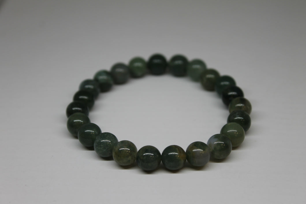Agate Mousse - bracelet 8 mm