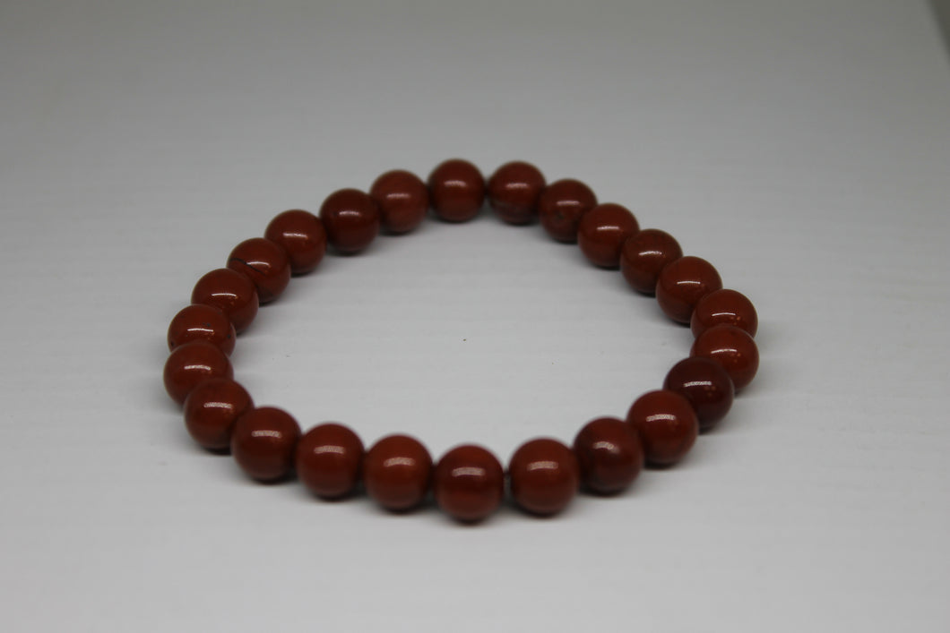 Jaspe rouge - bracelet 8 mm