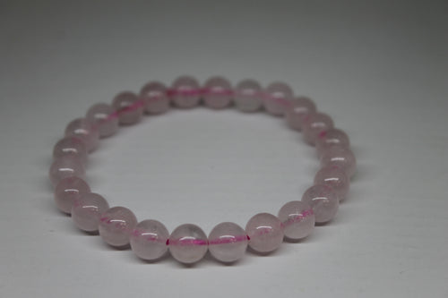 Quartz rose- bracelet 8 mm