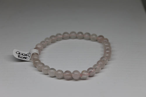 Quartz rose- bracelet 6 mm