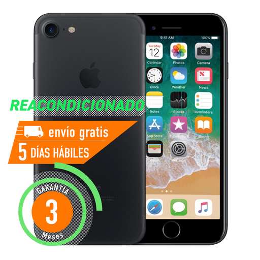 Apple iPhone 7 256 GB Negro Mate Reacondicionado Grado B