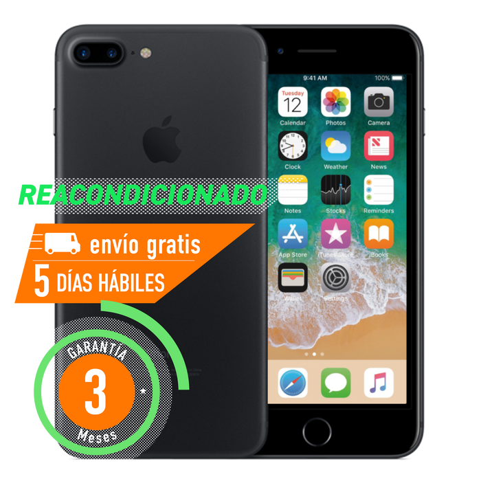 Apple iPhone 7 Plus 128 GB Negro Mate Reacondicionado