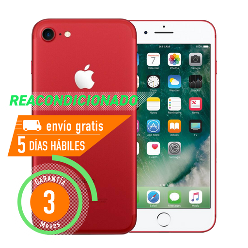Apple iPhone 7 128 GB Rojo Reacondicionado Grado B