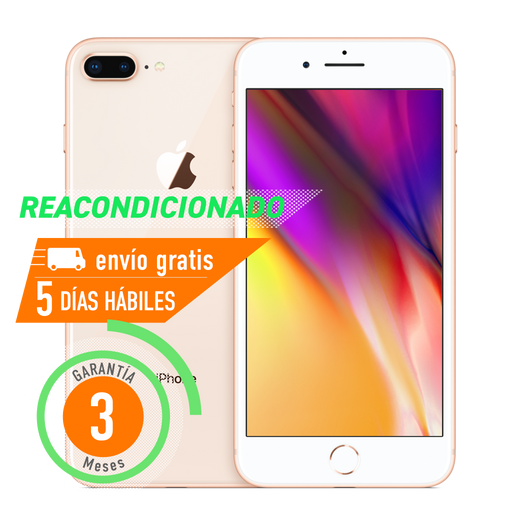 Apple iPhone 8 Plus 64 GB Dorado Reacondicionado Grado B