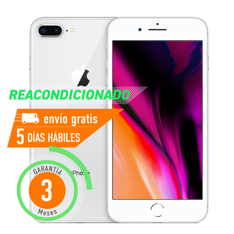 Apple iPhone 8 Plus 64 GB Plata Reacondicionado