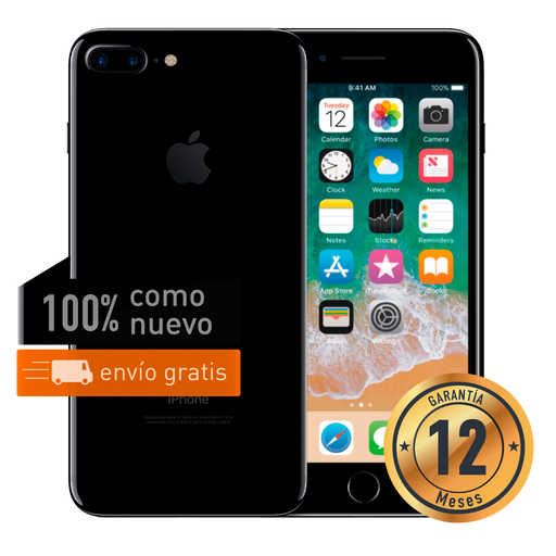 Apple iPhone 7 Plus 32 GB Negro Brillante Certificado