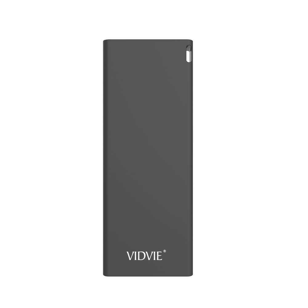 Power Bank 6000 mAh 2 puertos Negro Vidvie PB713