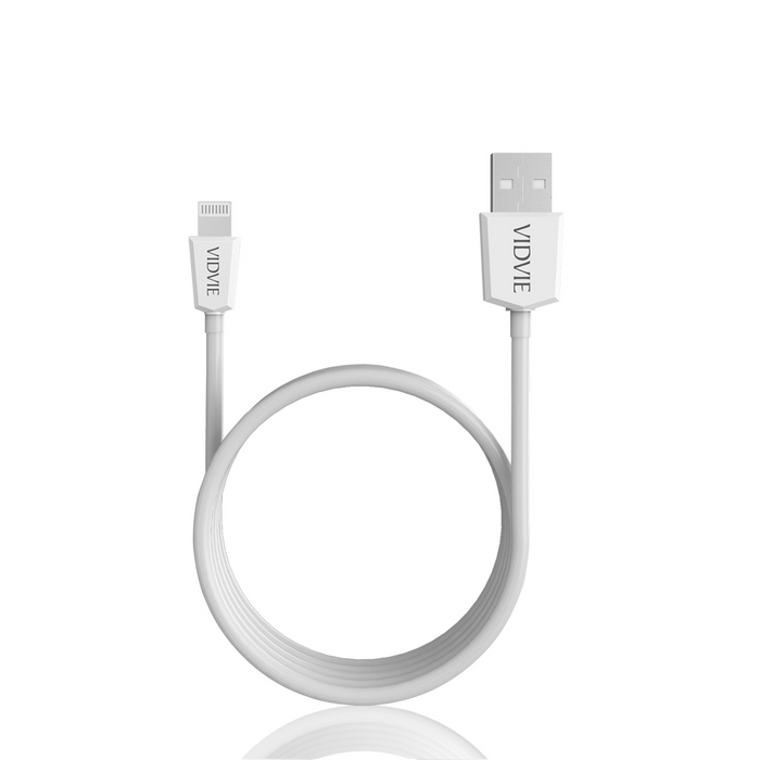 Cable USB iPhone PVC 100 cm Blanco Vidvie CB401 I