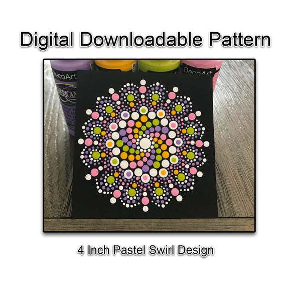 Digital Download - 4 Inch Pastel Swirl Design