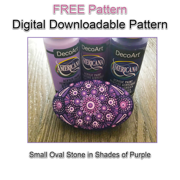 Digital Download - Small Purple Oval Dot Mandala Pattern