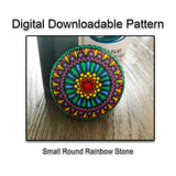 Digital Download - Small Rainbow Dot Mandala Pattern