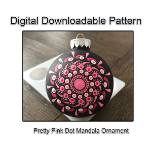 Pretty Pink Dot Mandala Ornament