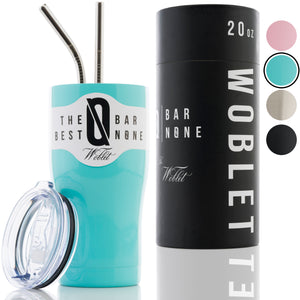 BAR N0NE Woblet | 20 oz Stainless Steel Travel Tumbler, Vacuum Insulaed, Double Copper-Lined